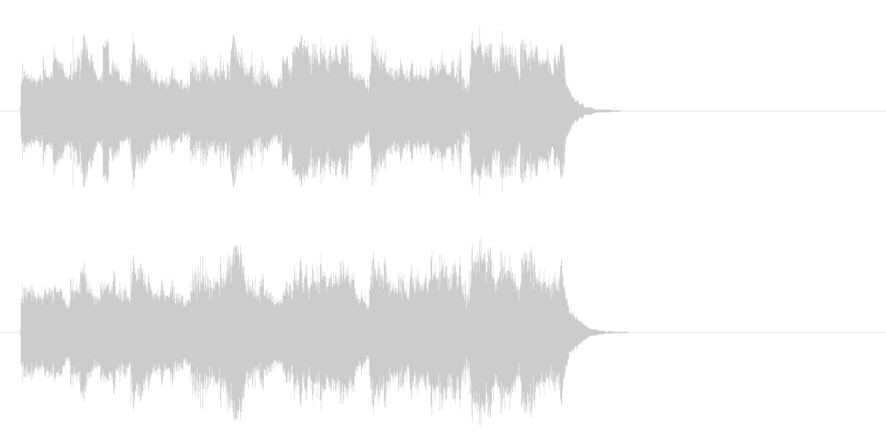 懐かしの歌謡ジャズ風楽曲(イントロ)の未再生の波形
