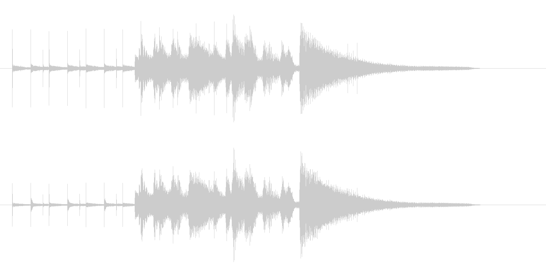 ジャズトリオのジングルの未再生の波形