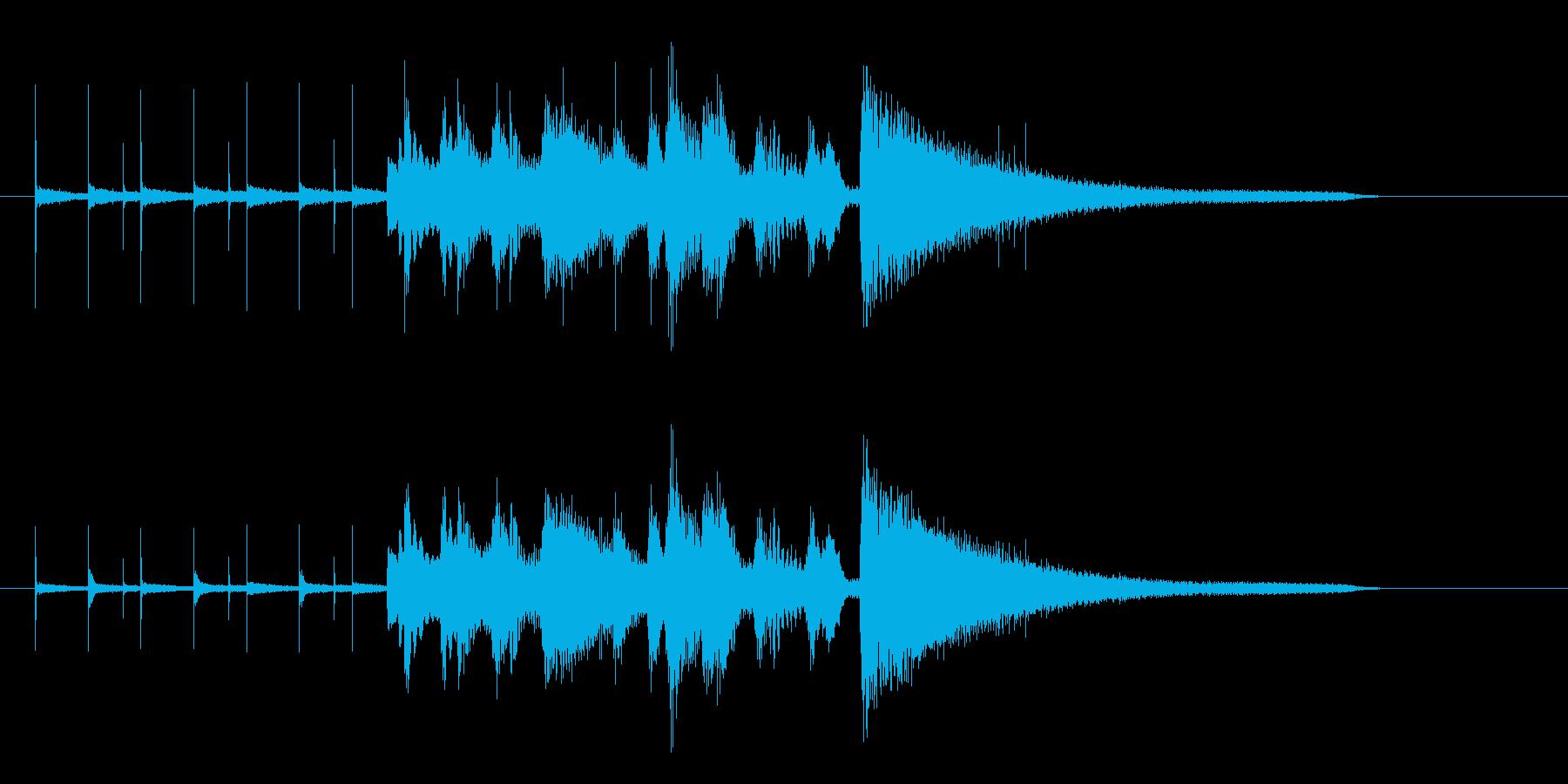 ジャズトリオのジングルの再生済みの波形