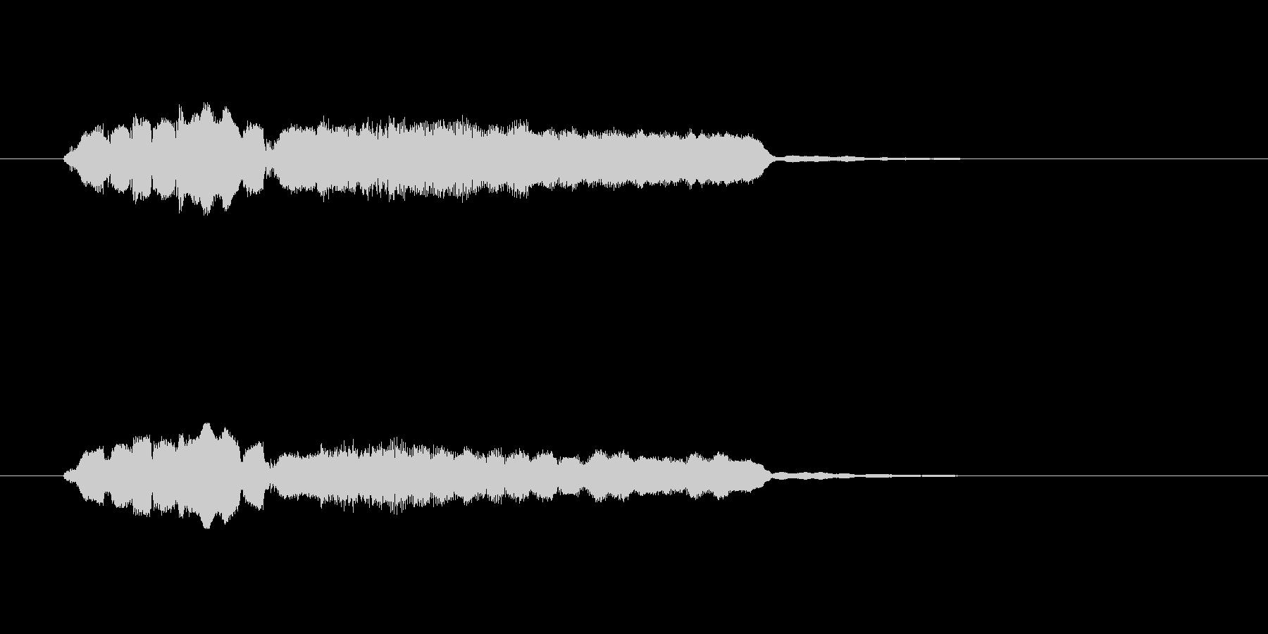 フルートとエレピの優しいサウンドの未再生の波形