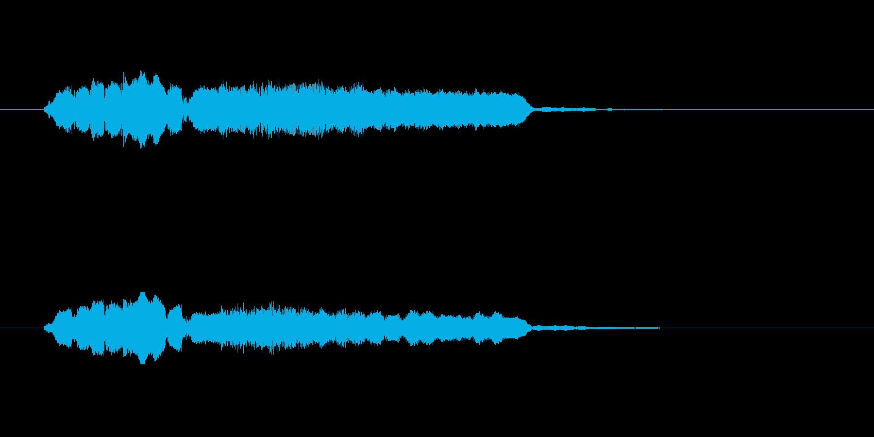 フルートとエレピの優しいサウンドの再生済みの波形