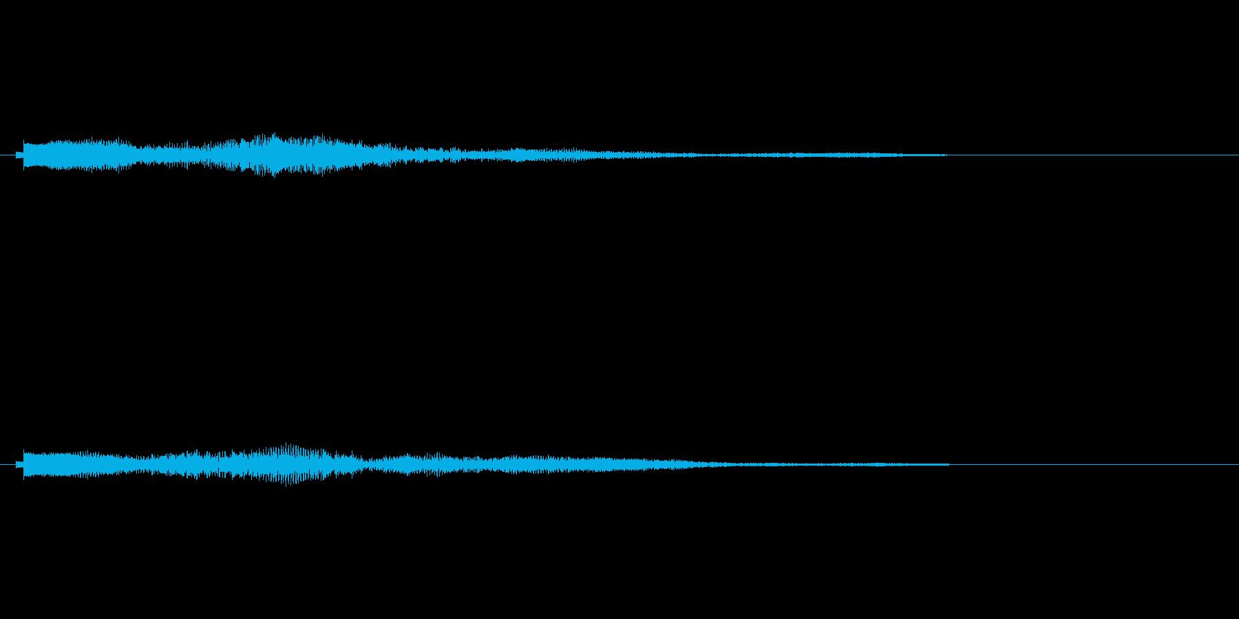 シンセコードによるサウンドロゴ4の再生済みの波形