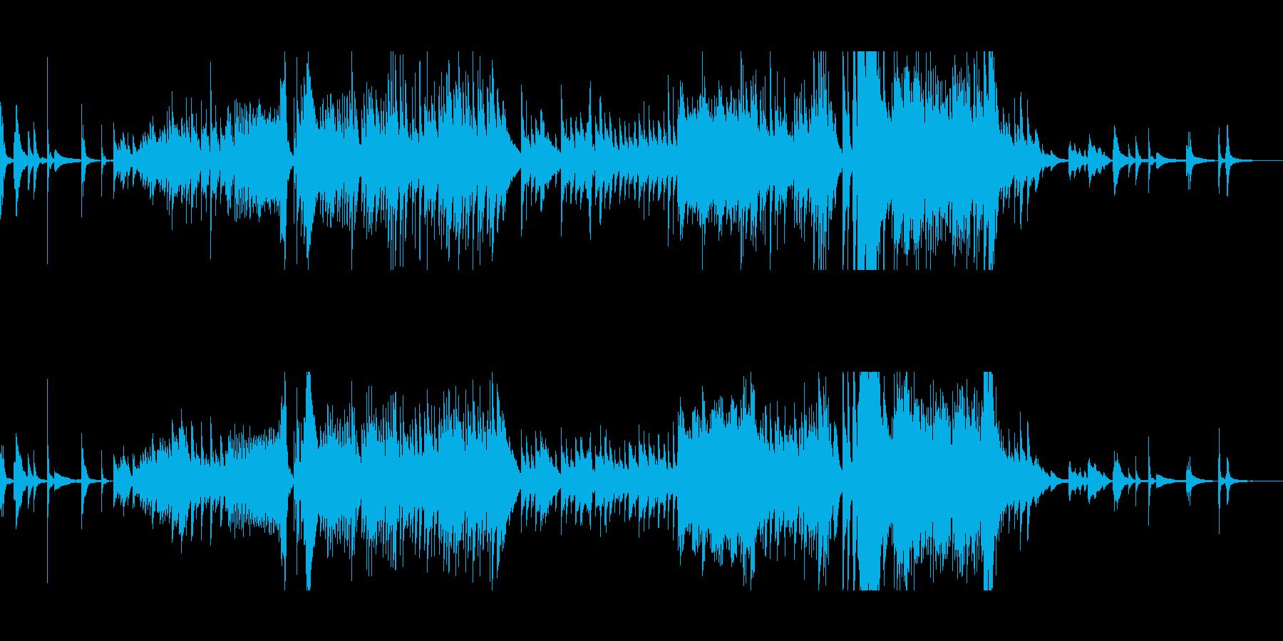 和を感じるピアノ曲の再生済みの波形