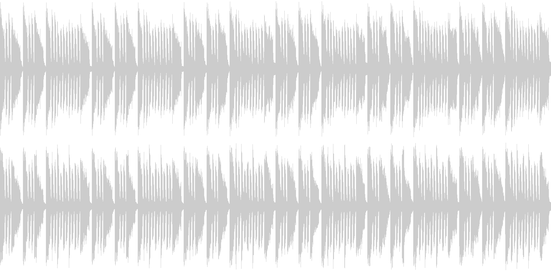 アクアリウム出来たな曲(ループ仕様)の未再生の波形