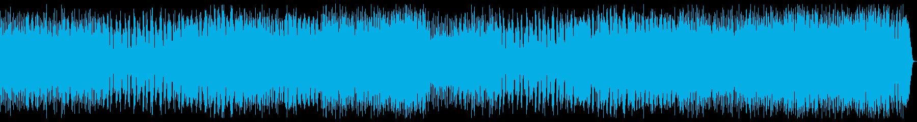 ダークファンタジーなヘビーメタル戦闘曲の再生済みの波形