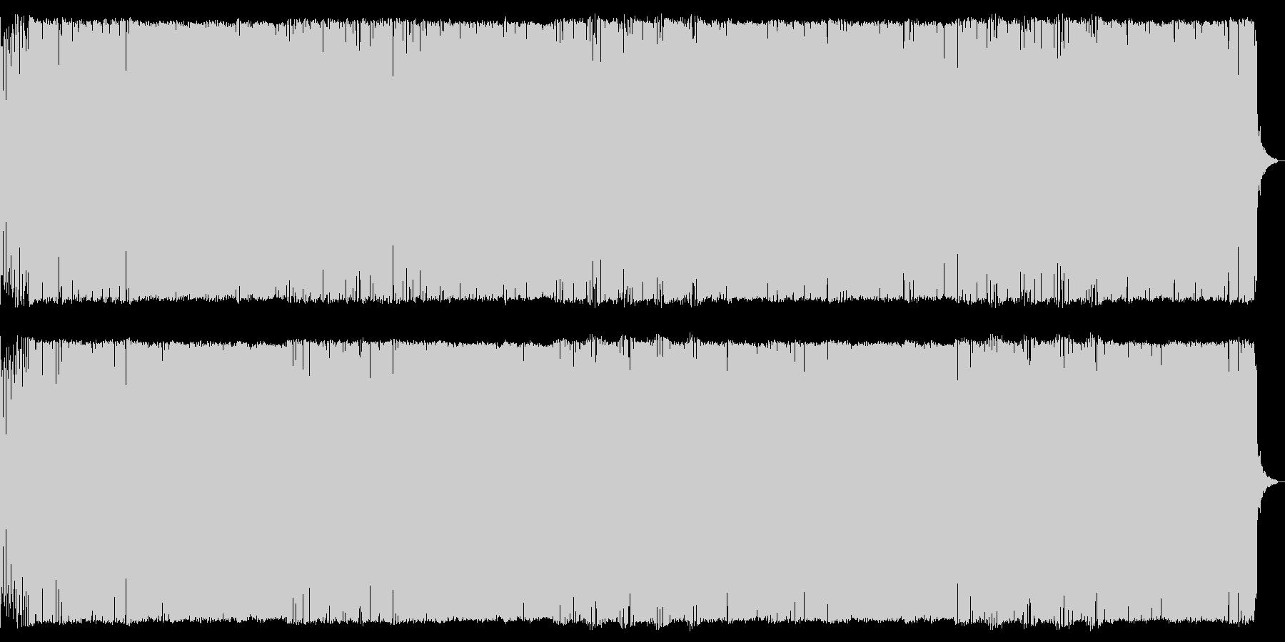 緊迫した場面ダークなデジタルオーケストラの未再生の波形
