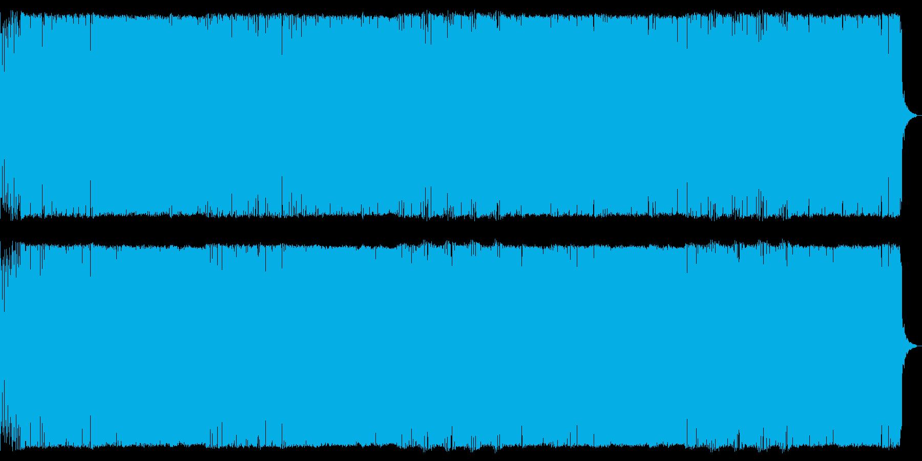 緊迫した場面ダークなデジタルオーケストラの再生済みの波形