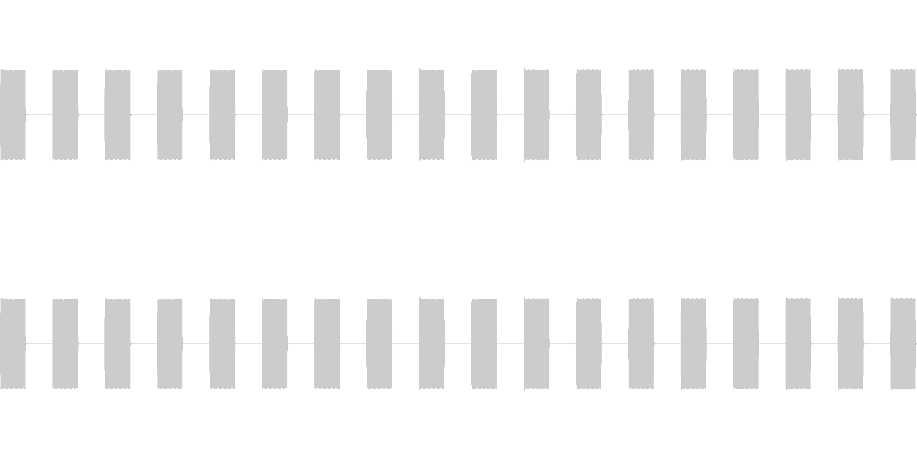 トゥルルル(ポイントが加算される音)の未再生の波形