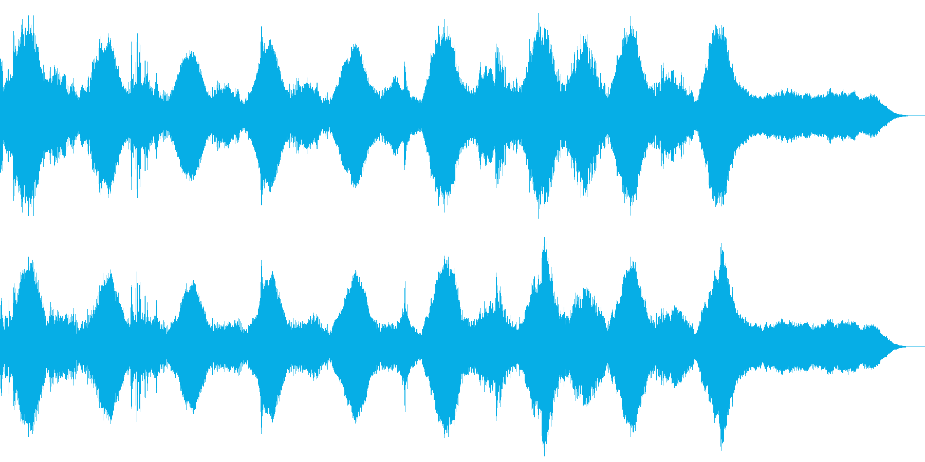 不気味なサウンドの再生済みの波形
