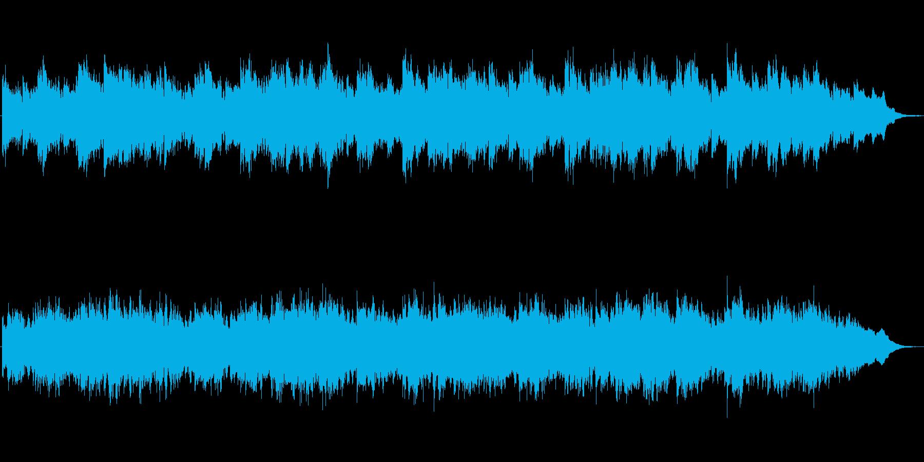 ほのぼのとした雰囲気のシンセのジングルの再生済みの波形