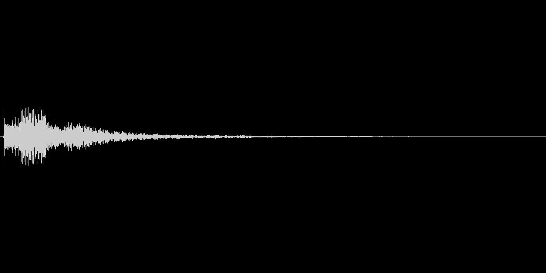 ベルのようなピロンと下がる効果音です。…の未再生の波形