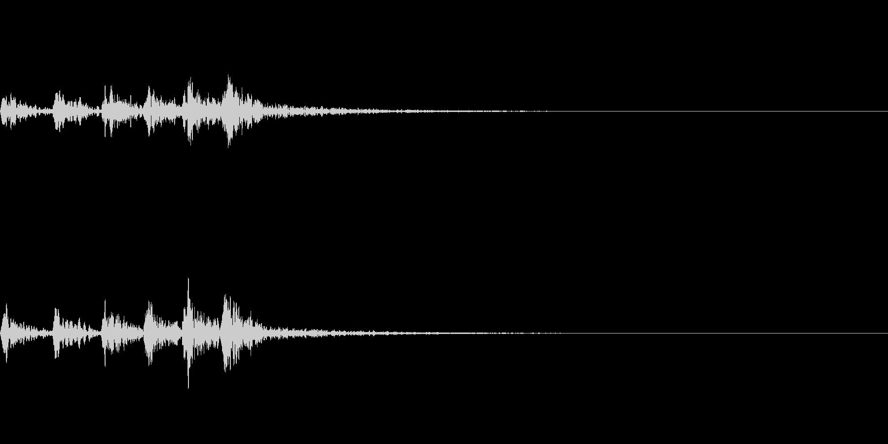 ホトトギスの鳴き声 06の未再生の波形