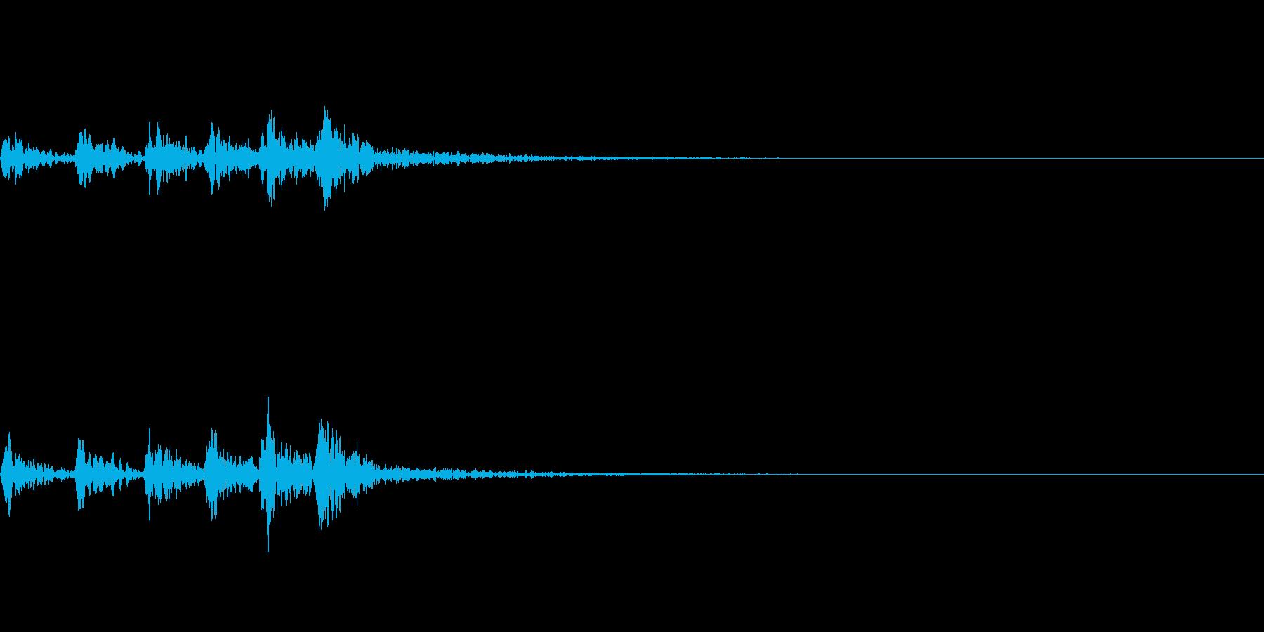 ホトトギスの鳴き声 06の再生済みの波形