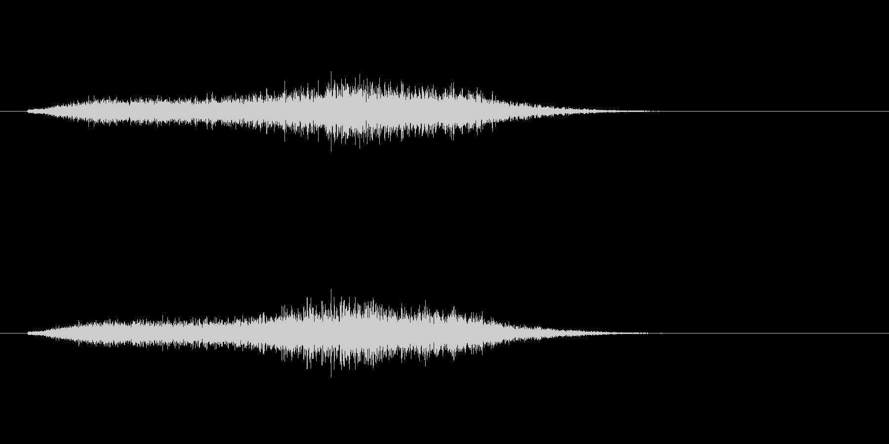 高音の摩擦のある風音です。の未再生の波形