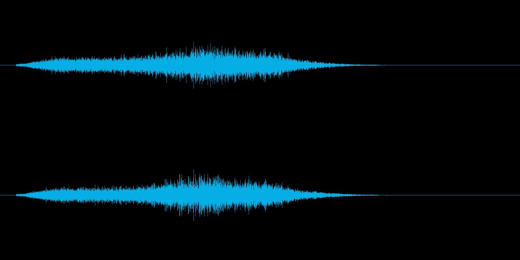 高音の摩擦のある風音です。の再生済みの波形