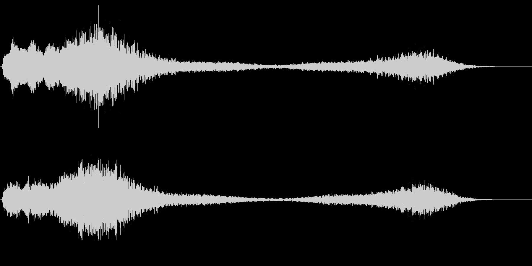 ヒューン テレポート ワープ 不思議な音の未再生の波形