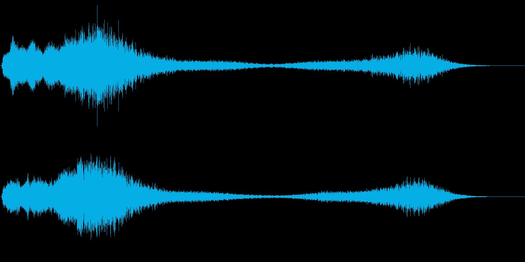 ヒューン テレポート ワープ 不思議な音の再生済みの波形