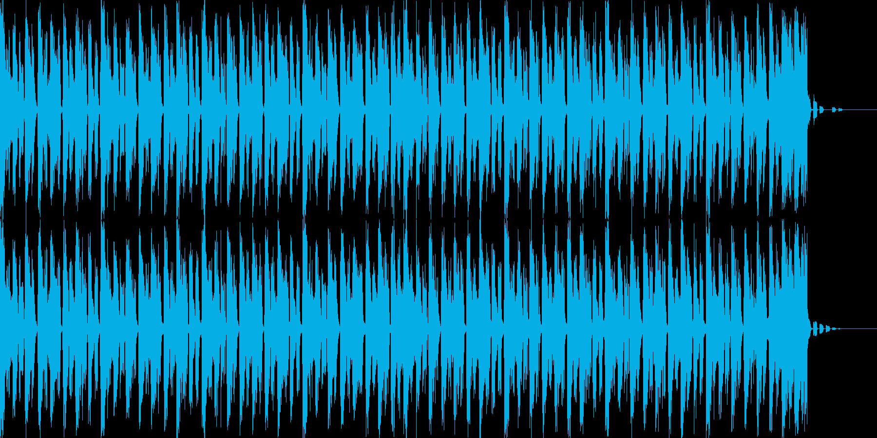 緊迫感があるBGMの再生済みの波形