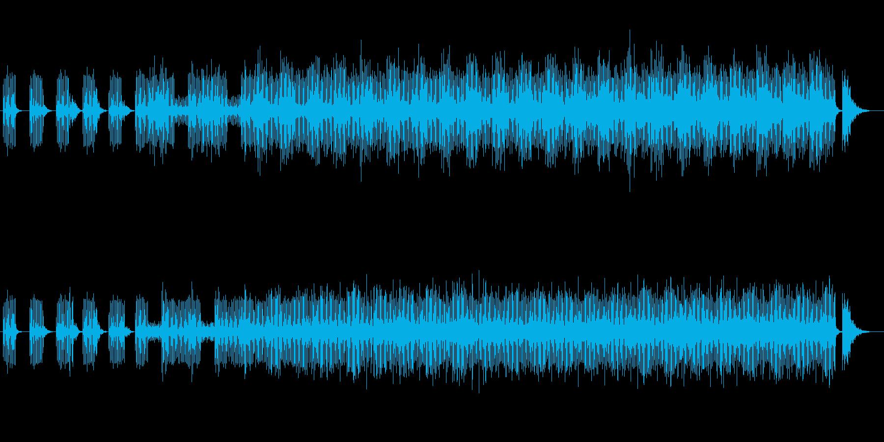 幻想的で神秘的なリフレインミュージックの再生済みの波形