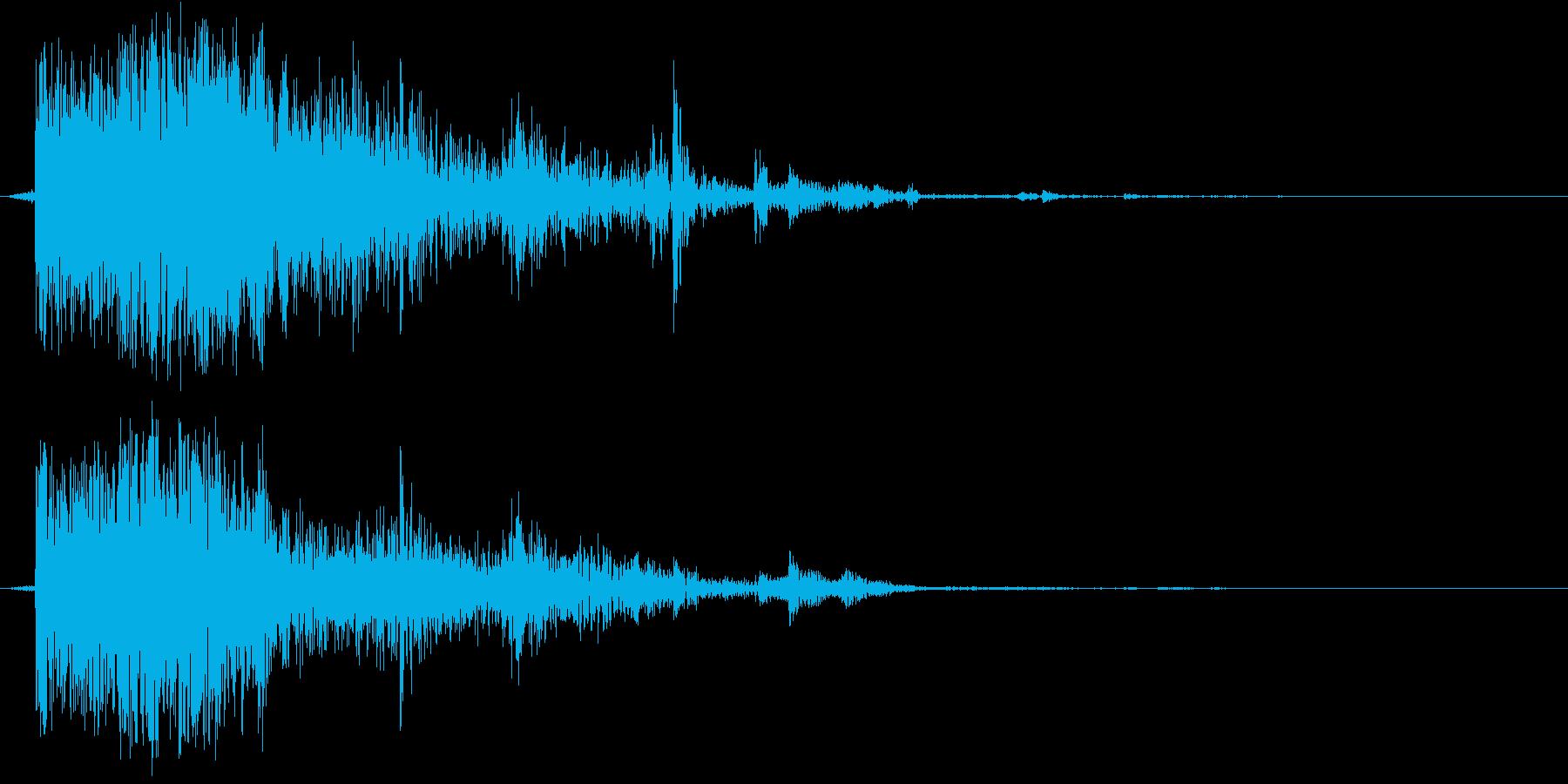 窓やガラスの割れる音の再生済みの波形