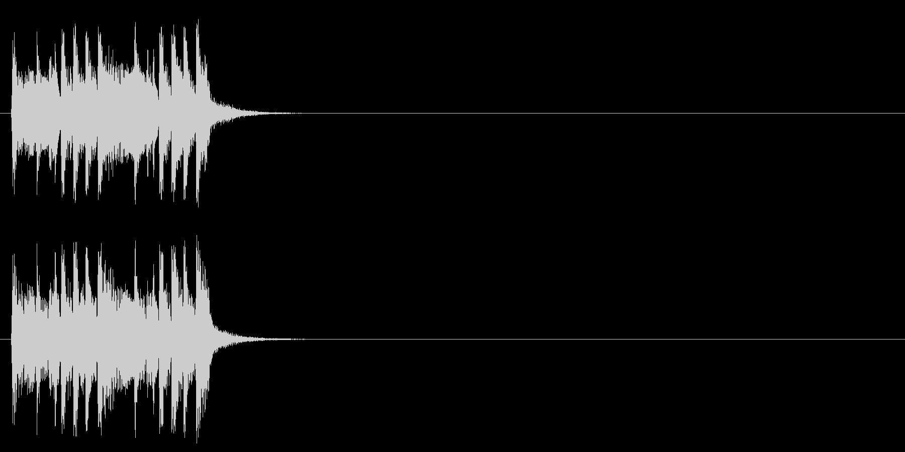 ジングル/アタック(元気なポップ)の未再生の波形