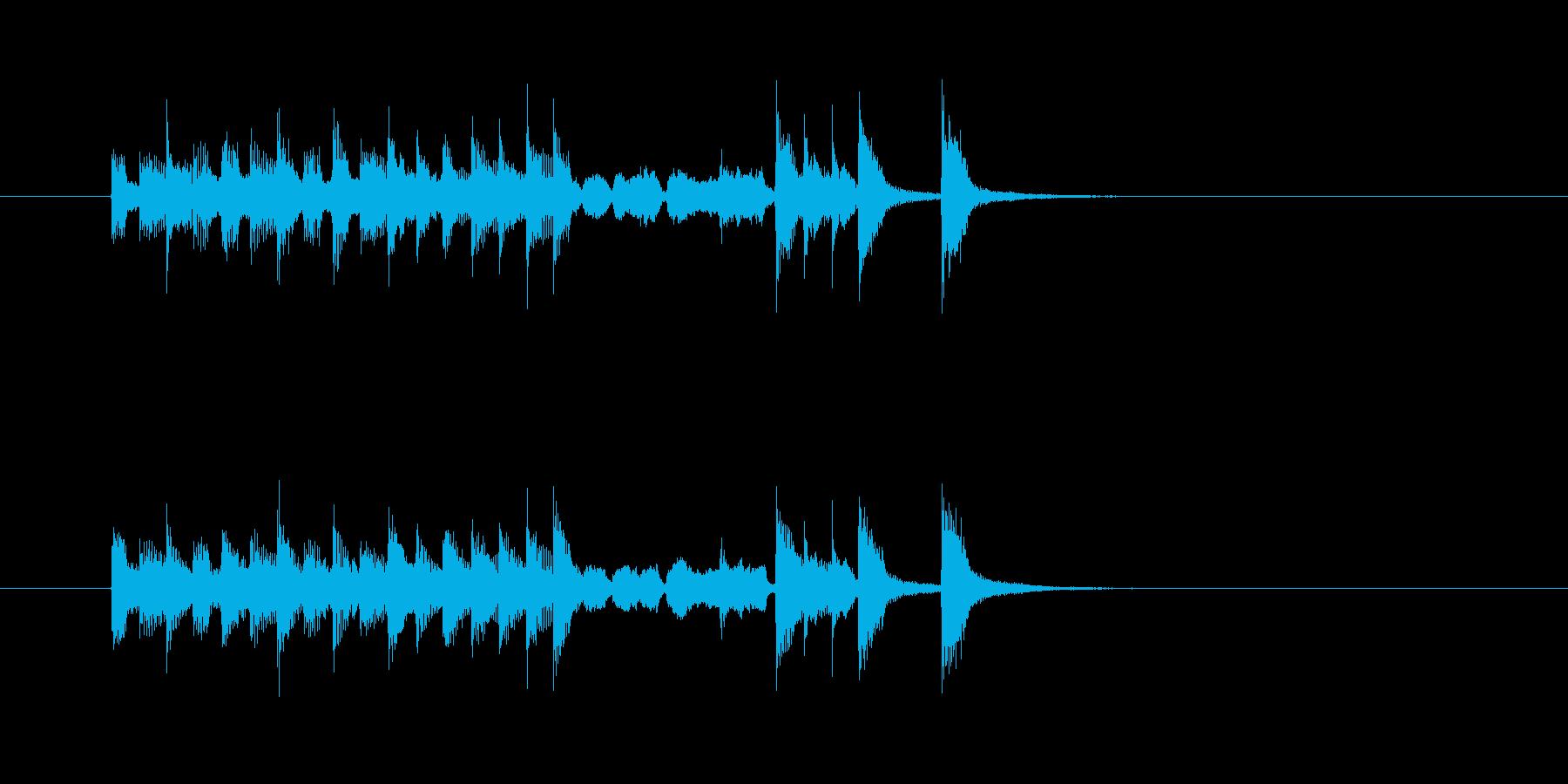 コミカル トランペット 明るい 楽しい の再生済みの波形