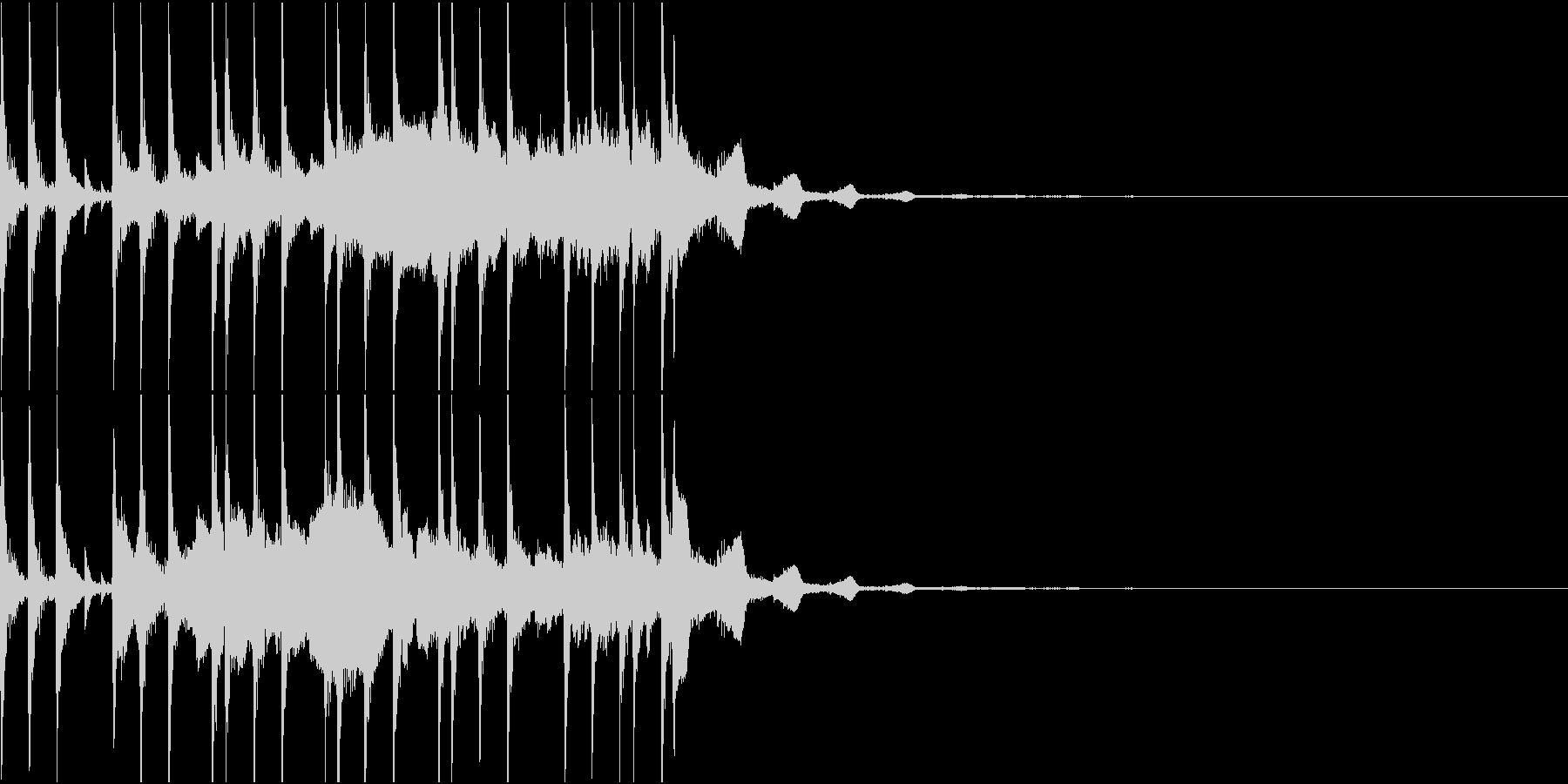 和風尺八ドラムのオープニングの未再生の波形