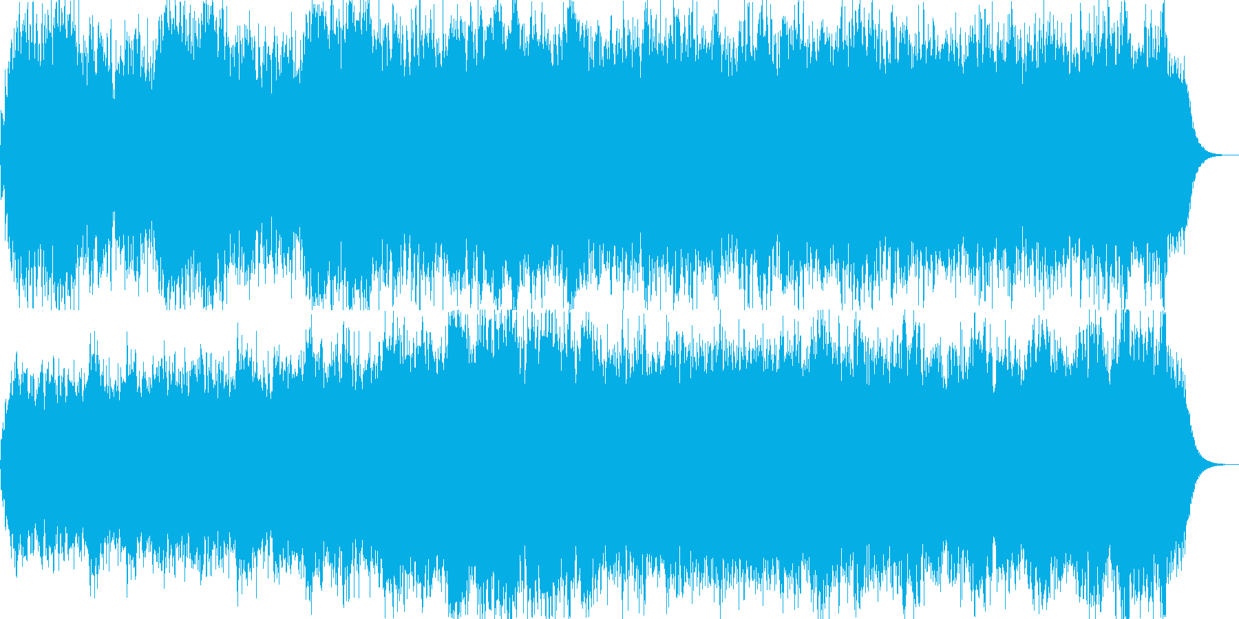 シルクロードを柔らかく流れる風のイメージの再生済みの波形