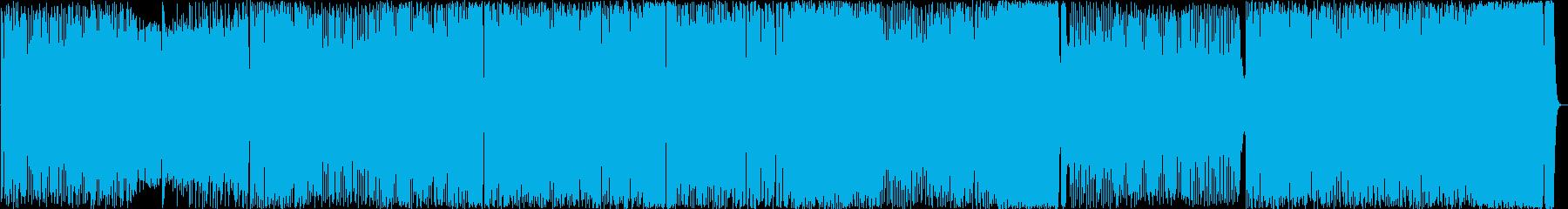 メタルとオーケストラのメロディアスな曲の再生済みの波形
