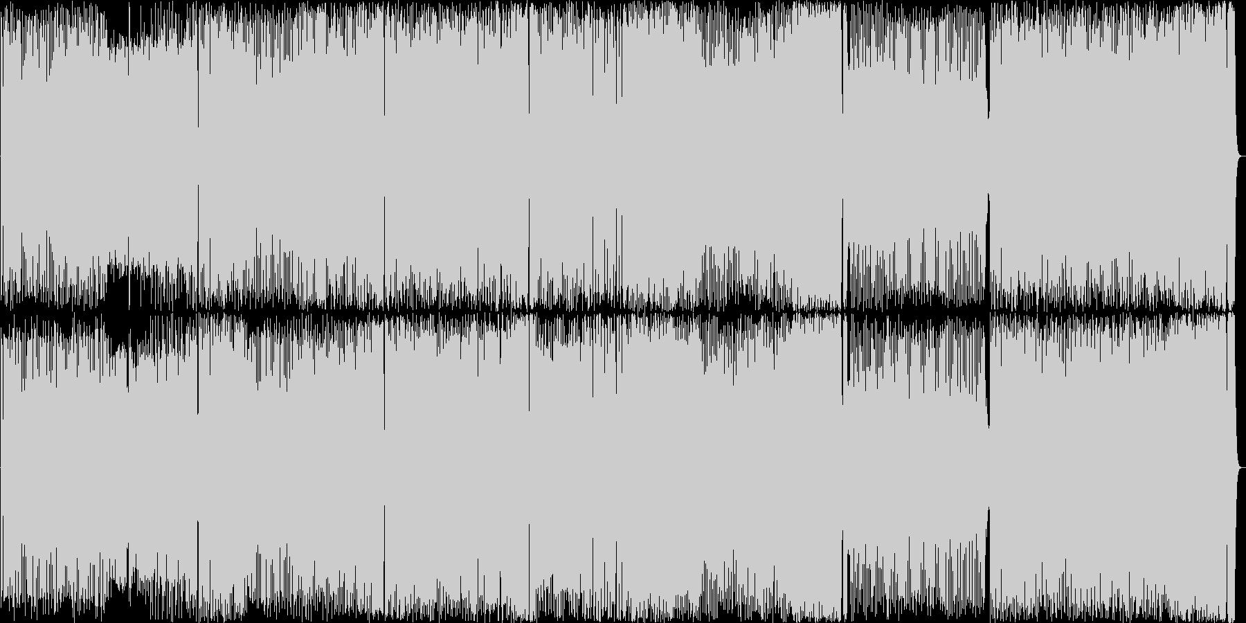 メタルとオーケストラのメロディアスな曲の未再生の波形