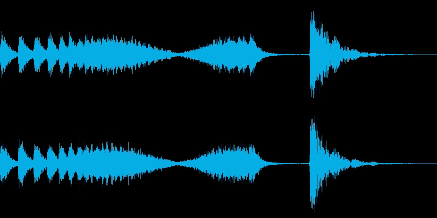 和風な歌舞伎の附け木フレーズ ジングル2の再生済みの波形