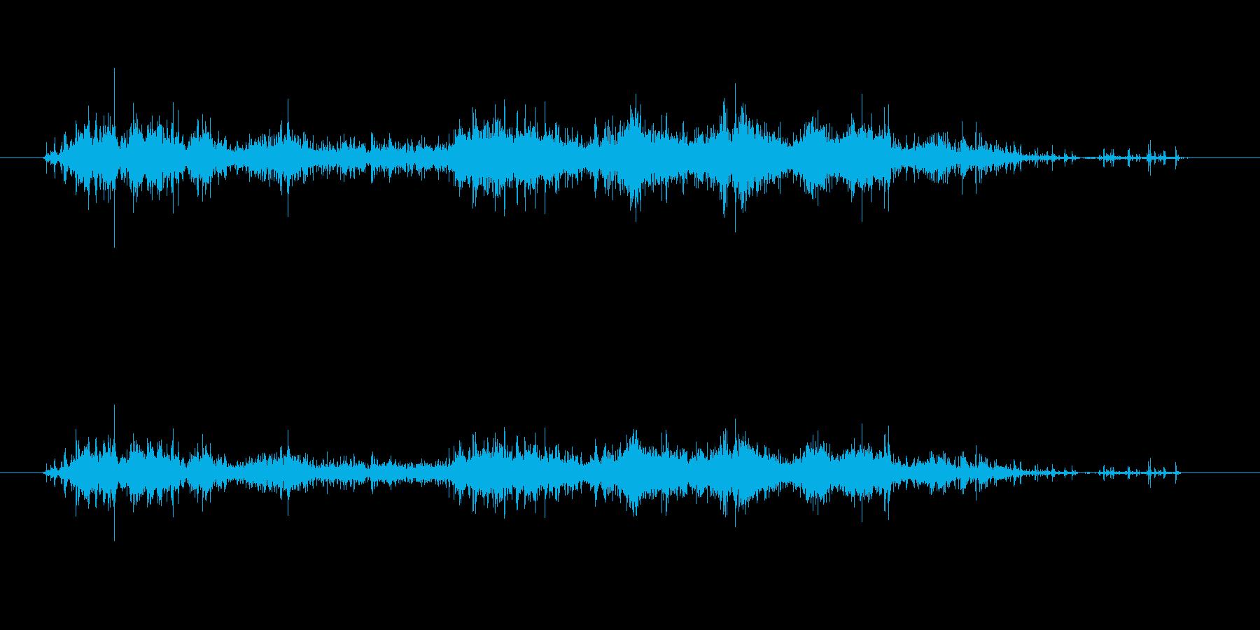がさごそ(ナイロンの袋)の再生済みの波形