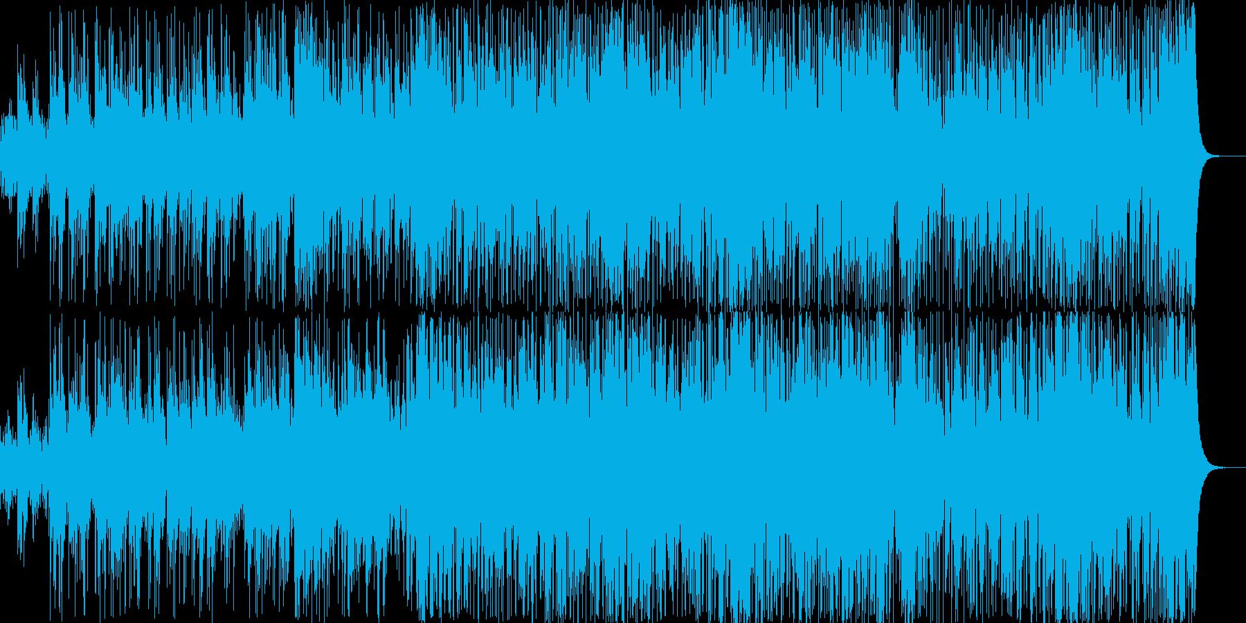 神秘的で躍動感のある曲の再生済みの波形