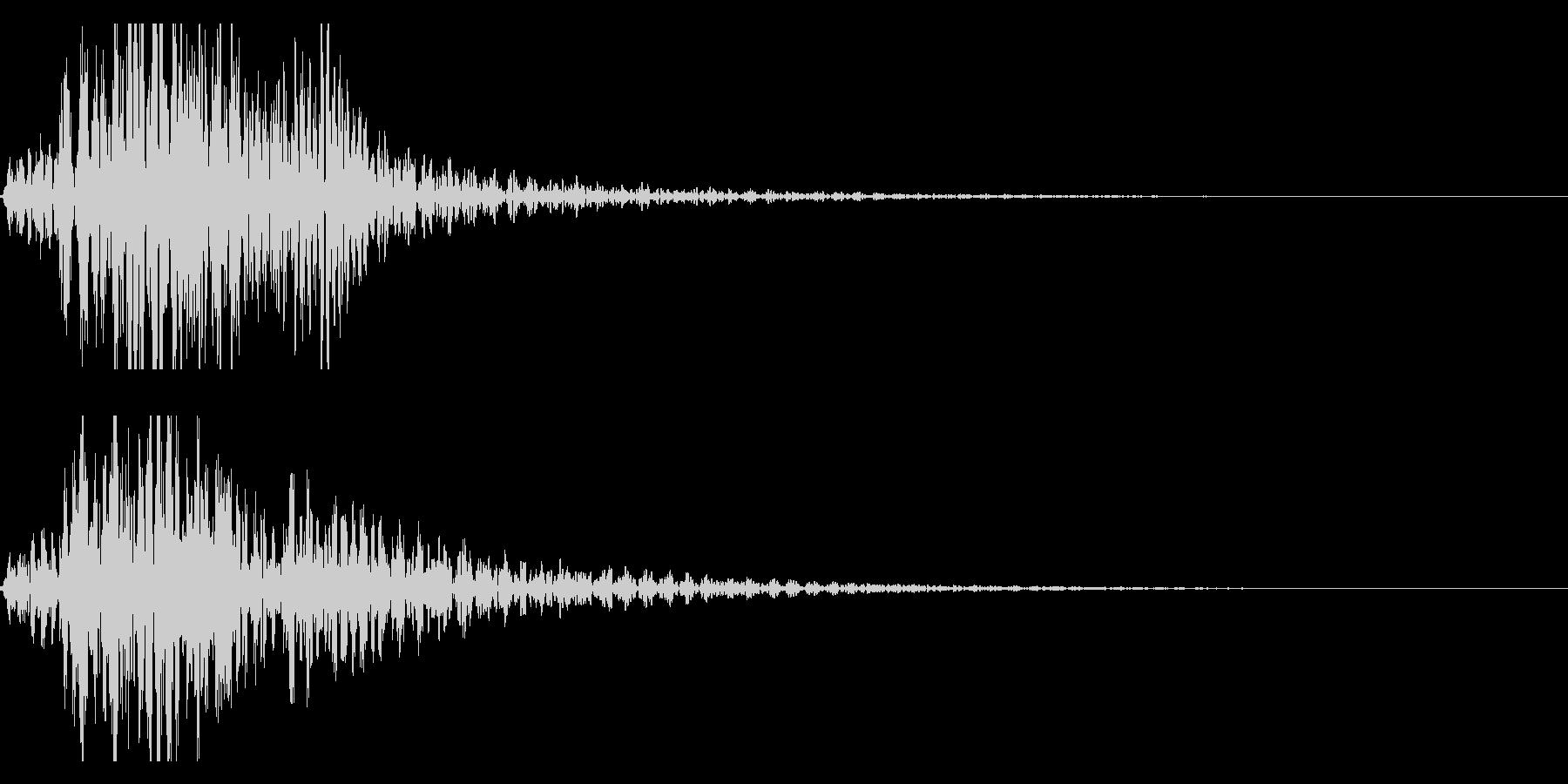 太鼓 和太鼓のフレーズ ジングル ロゴ5の未再生の波形