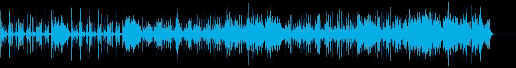 可愛いピアノとストリングスのBGMの再生済みの波形