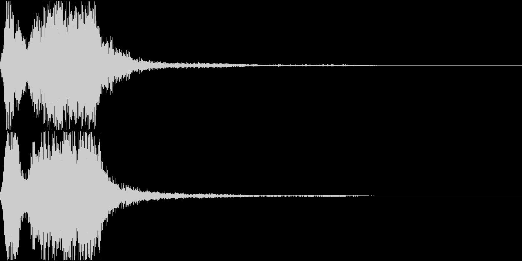 ラッパ ファンファーレ 定番 4 早いの未再生の波形