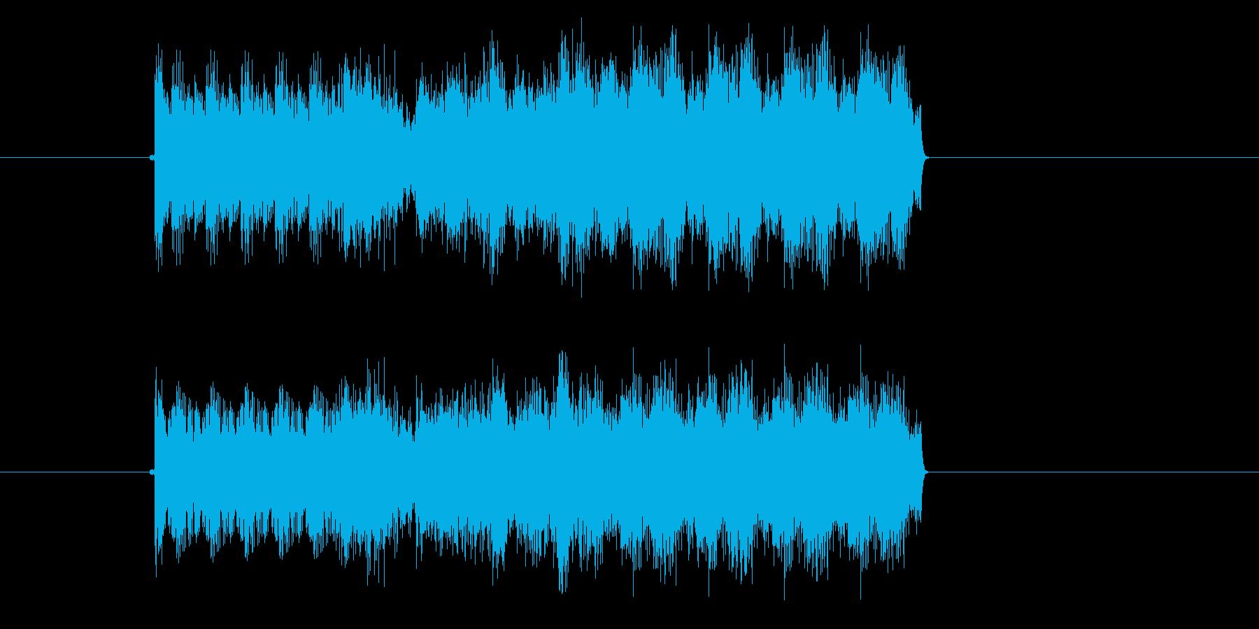 激しいポップスサウンド(番組、ジングル)の再生済みの波形