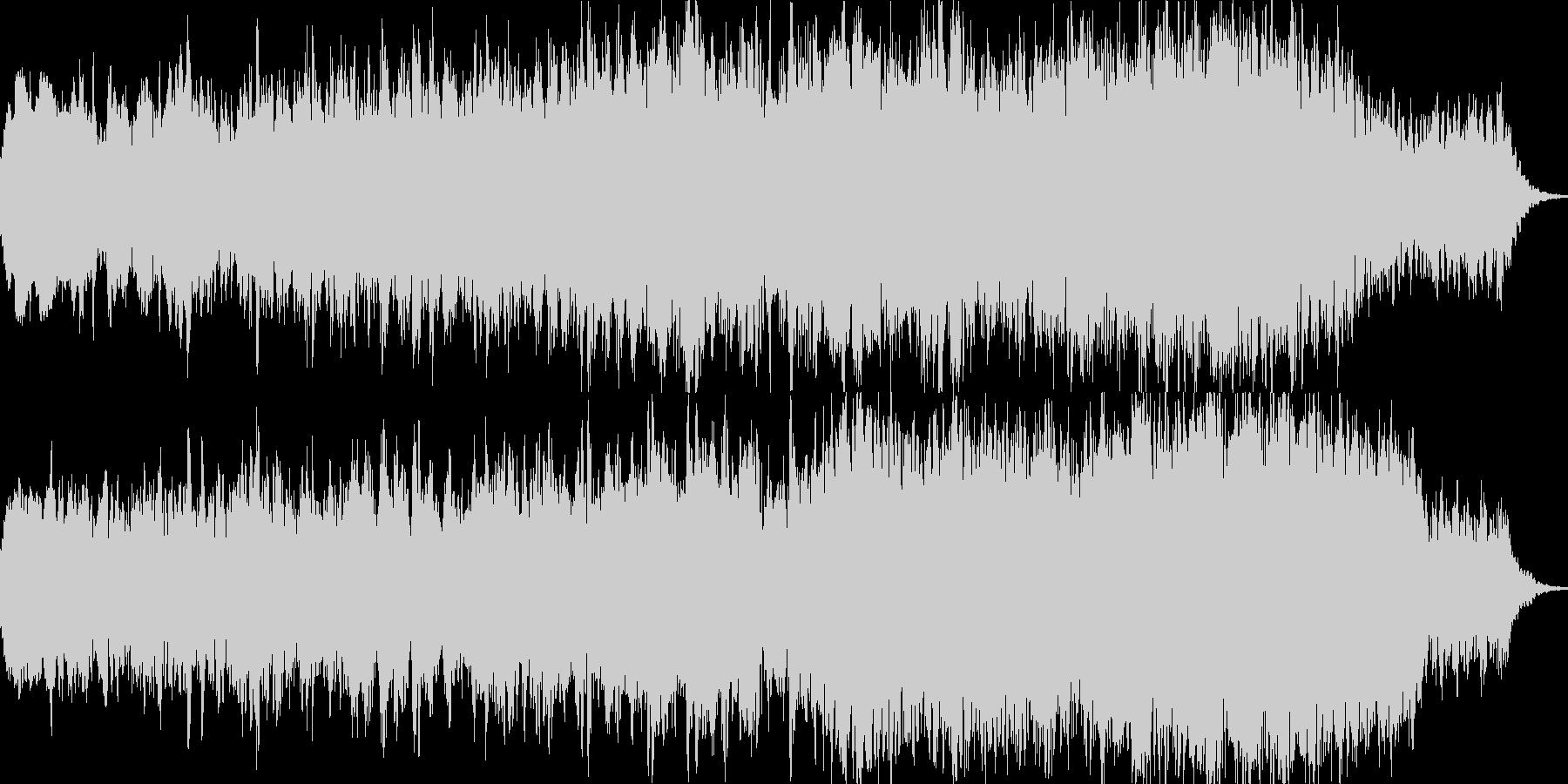 暗くて恐ろしい6分のダークアンビエントの未再生の波形