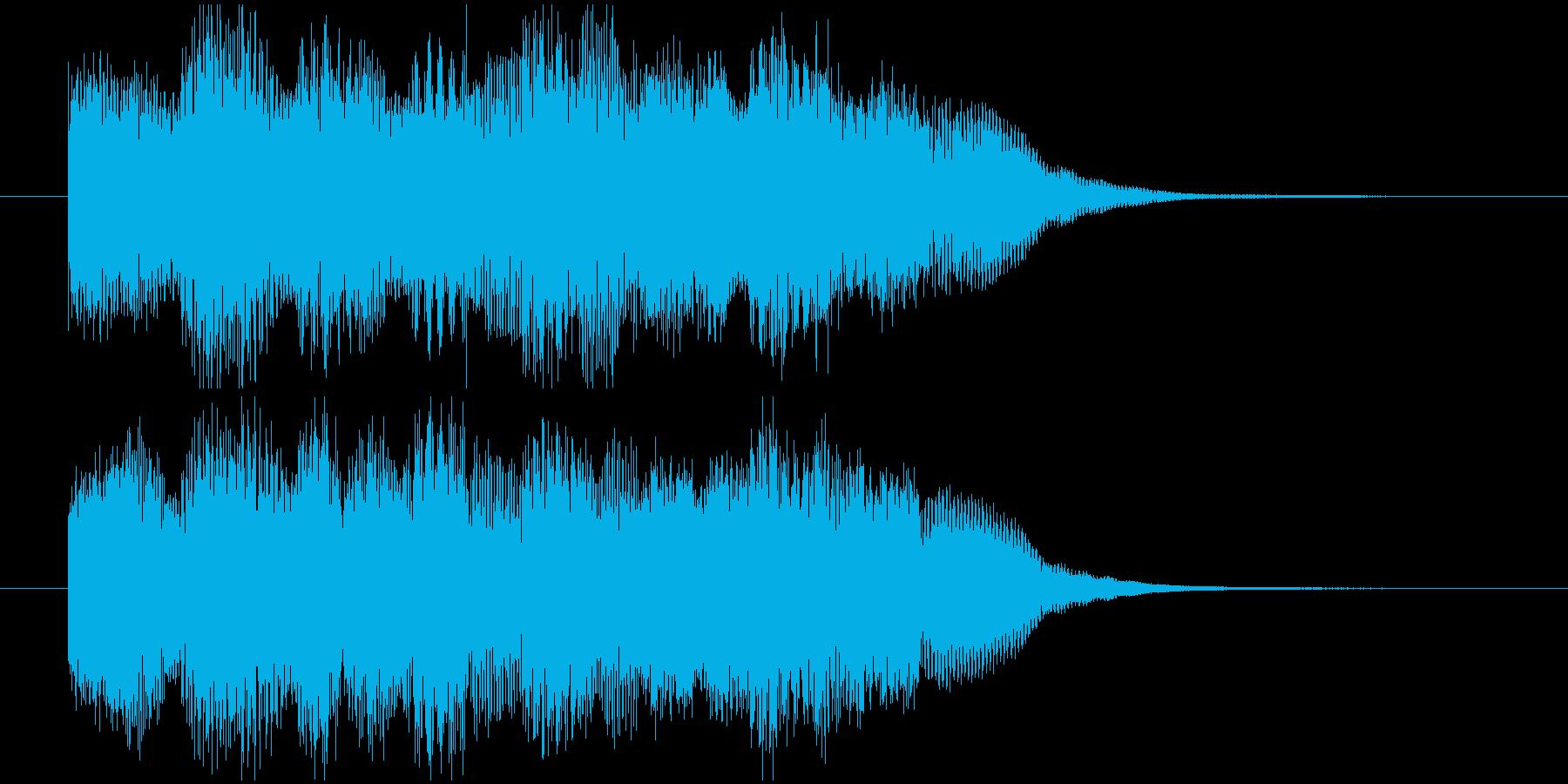 場面転換などに。可愛らしいジングルその5の再生済みの波形