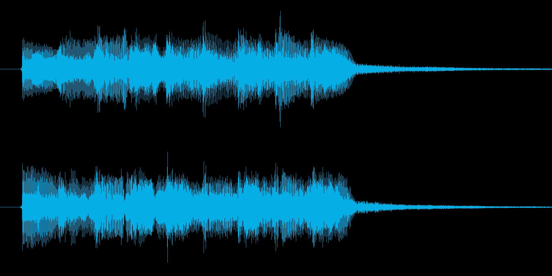 「テレテレテレテレレ」。入店音っぽいの再生済みの波形
