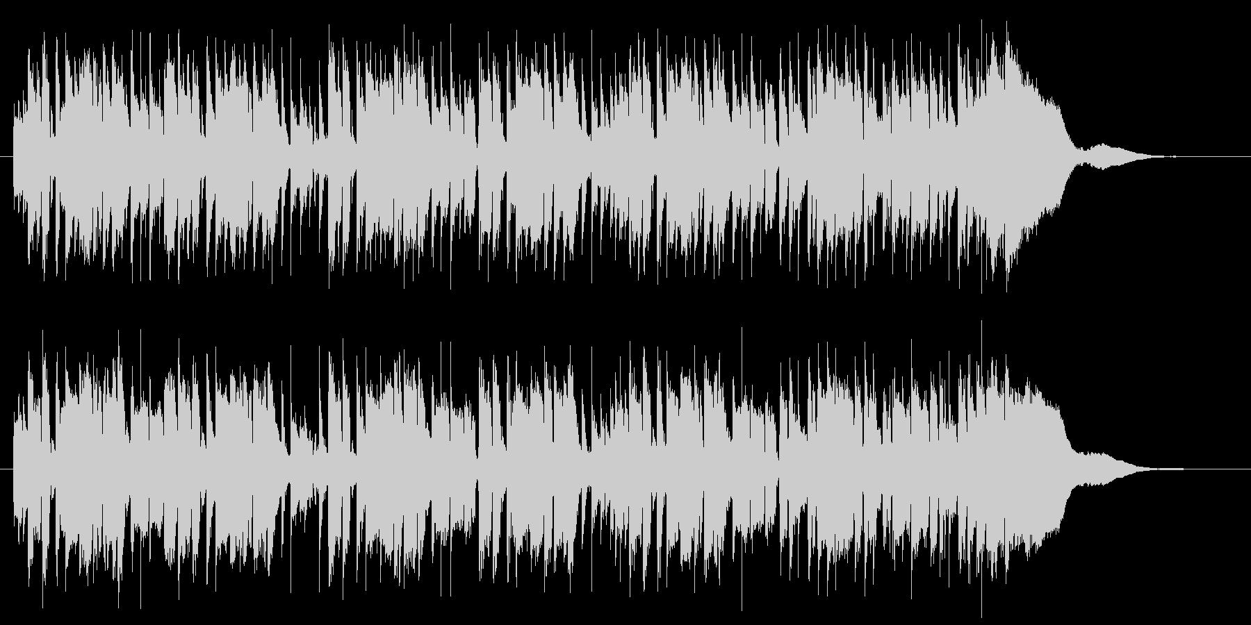 軽快で軽やかなピアノポップジングルの未再生の波形
