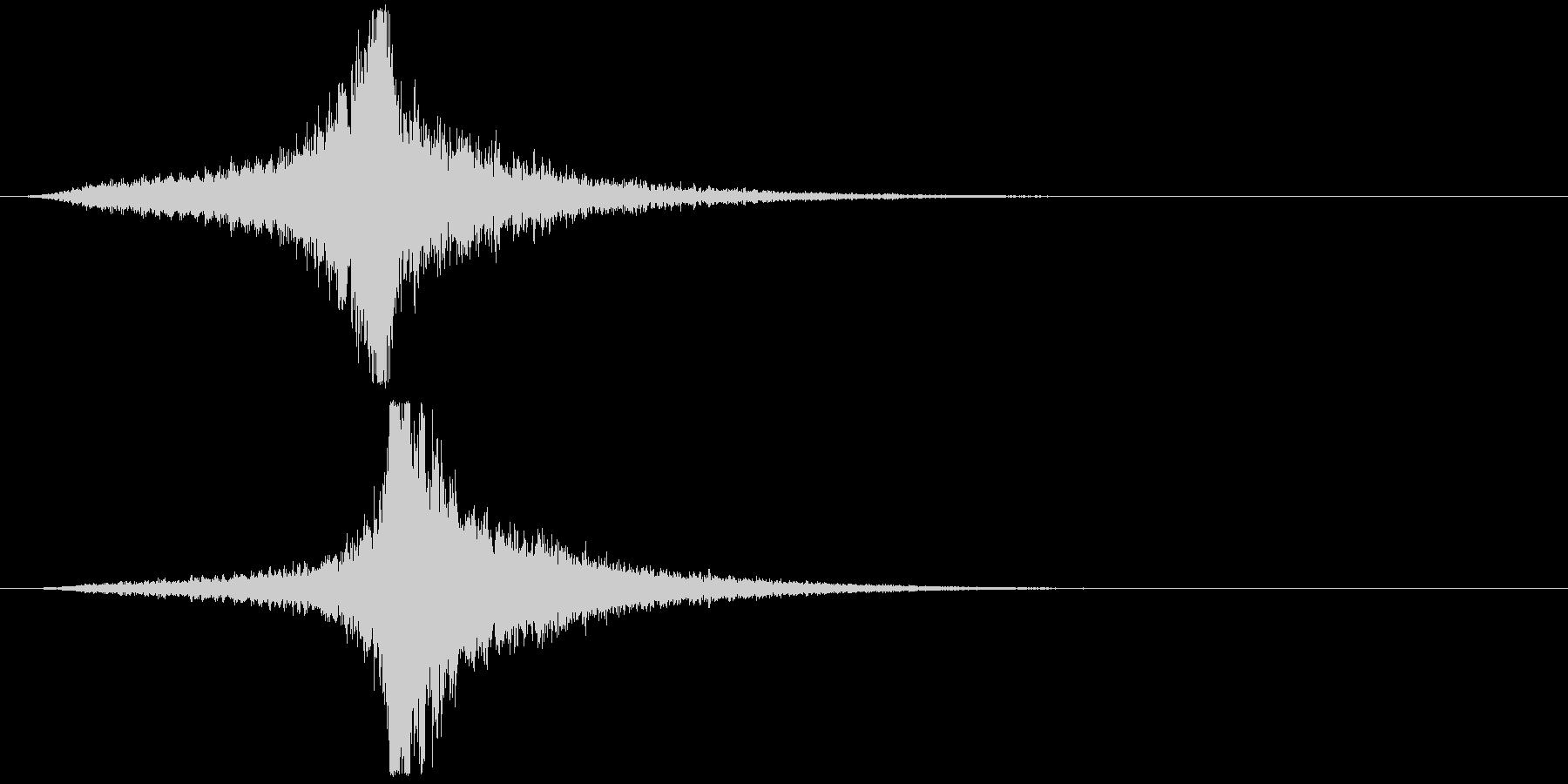 宇宙船・飛翔体#4通過 左〜右の未再生の波形