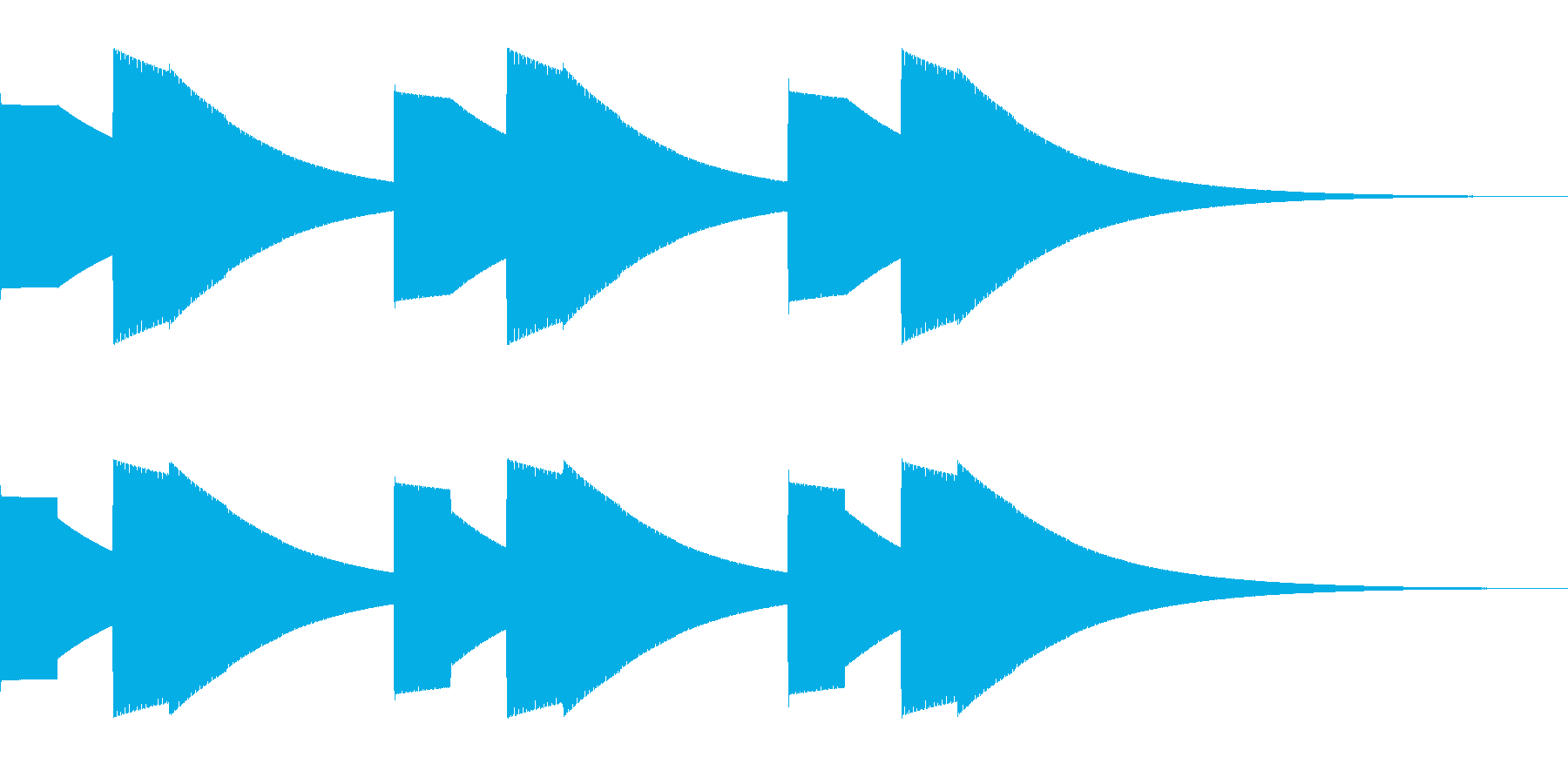 警告音の再生済みの波形