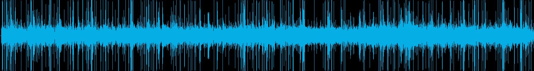 (パチパチ)火が燃える音の再生済みの波形