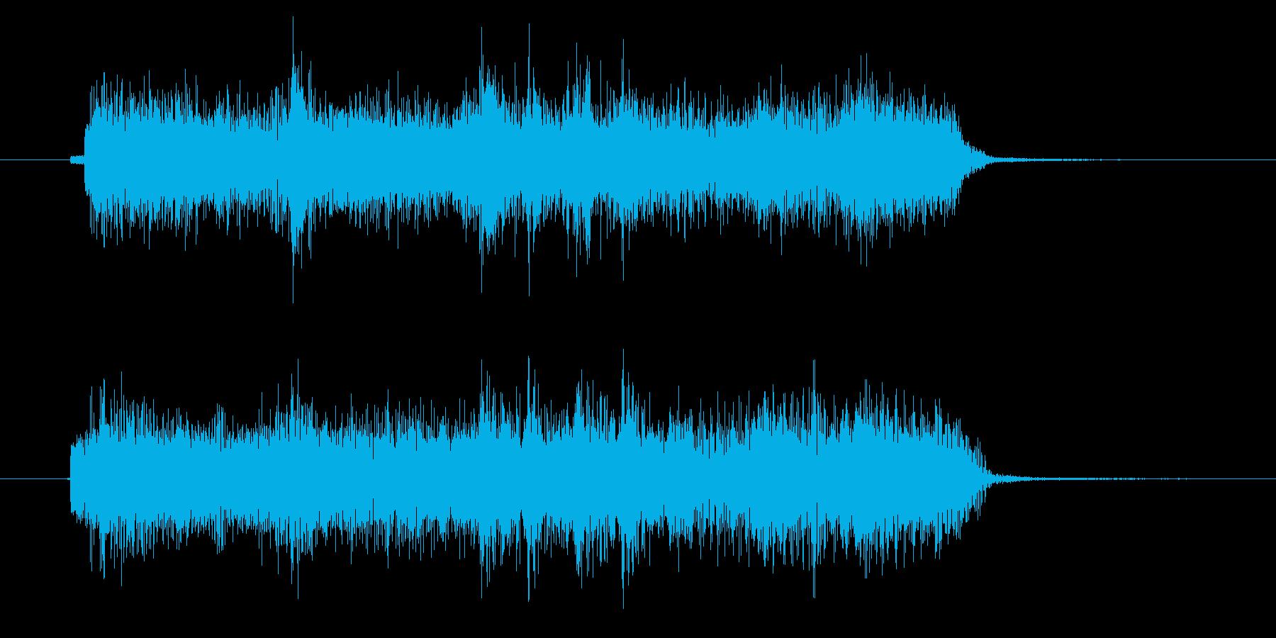 入場シーンで使えるロック系ジングルの再生済みの波形