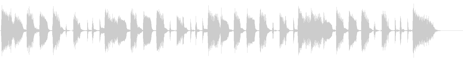 エレキギターでシンプルなリズムの未再生の波形