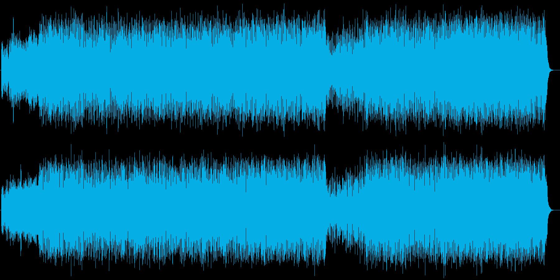 明るくはじけるシンセサイザーテクノEDMの再生済みの波形