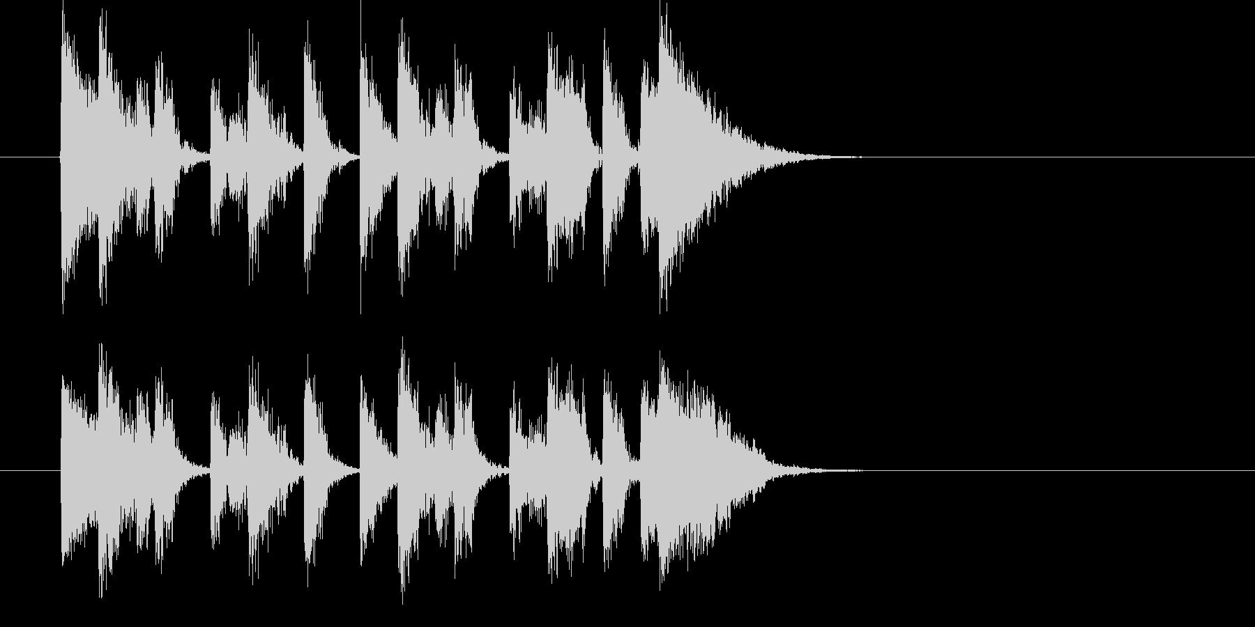 攻撃的なテクノミュージックの未再生の波形