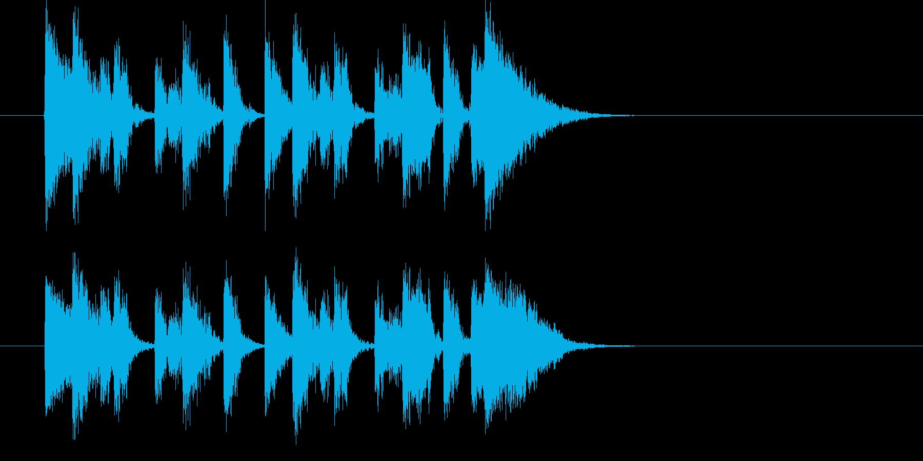 攻撃的なテクノミュージックの再生済みの波形
