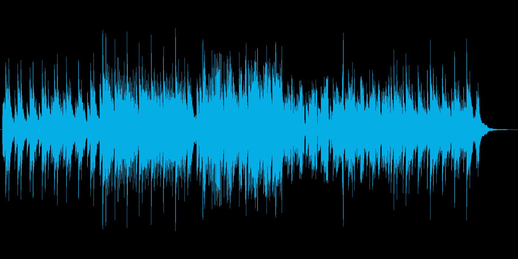 ほんわかしたピアノインストの再生済みの波形